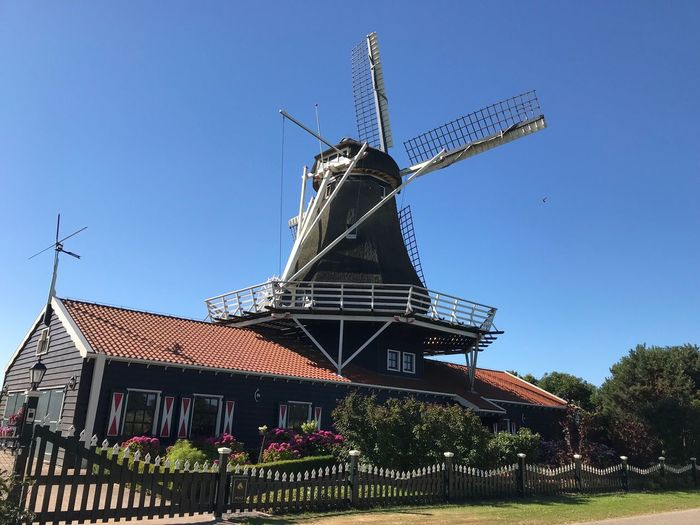 Mühle Nordholland Historical Building Mill Sky Architecture Built Structure Clear Sky Wind Turbine Nature Building Exterior