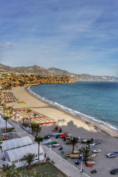 Nerja coastline Beach Beauty In Nature Blue Cloud - Sky Coastline High Angle View Horizon Over Water Mountain Nature Nerja Nerja Beach Nerja Coast Nerja Coastline Nerja Spain Sand Scenics Sea Shore Sky Tranquil Scene Tranquility Vacations Water Landscapes With WhiteWall