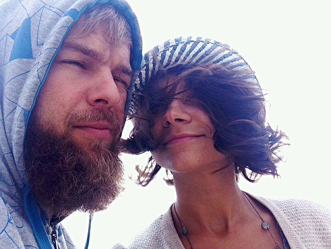 Let Your Hair Down Couple Couples Hair Windy Windy Hair Hairstyle Beard Bearded Beardlife Beardman Brunette Brunette Girl