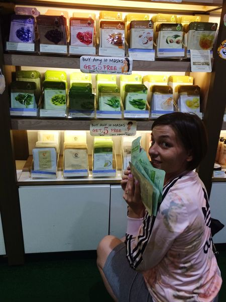 Sheet Mask shopping with a cutie!!!