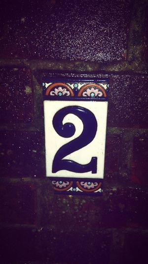 Number House Number Number 2 Number Two Tile Wet Been Raining Brick Texture Learn & Shoot: After Dark