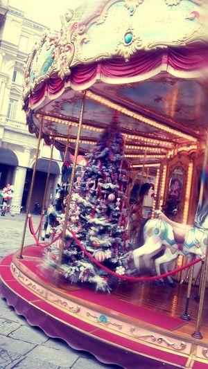 Christmas Around The World Florence Italy Christmas Tree Carosel Giostra