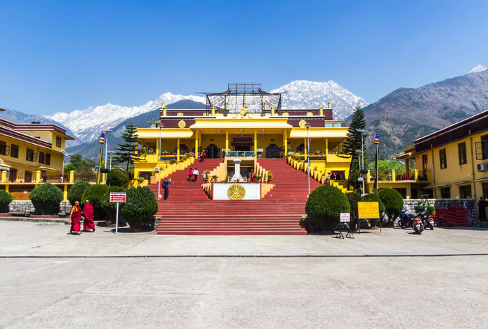 Gyuto Monastery Cultures Tradition Pavilion Travel Destinations Architecture Monks In Motion Scenic View Clearsky Dharamshala , Himachal Pradesh, India