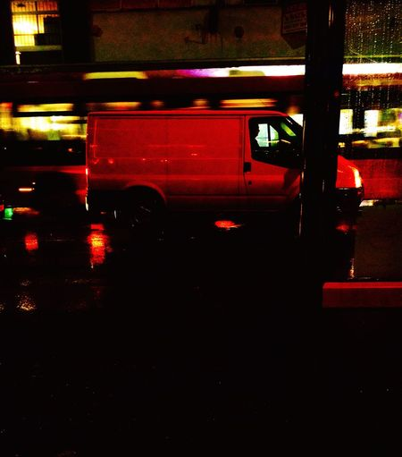 Winter nights Snapped Waiting Bus Stop Van Lights Streets Lights Phone Photography Birmingham Stops Working Busy Roads Illuminated Transportation Real People Red Public Transportation Fire Engine Night Men One Person Indoors  Low Section Heavy Embrace Urban Life