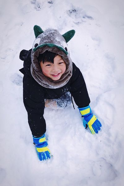 Cold Temperature Winter Snow Weather Playing Childhood Warm Clothing Full Length Smiling Happiness Fun Knit Hat Boys Field Enjoyment One Person Cute Leisure Activity Real People Lifestyles Peoplephotography People Photography Cute♡ People Watching EyeEm Ready
