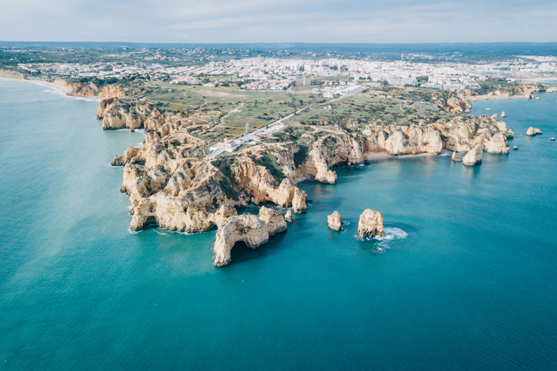 Algarve Atlantic Atlantic Ocean Coastline Drone  Lagos Ponta Da Piedade Tourist Attraction  Aerial View Algarve, Portugal Beach Beauty In Nature Blue Water Coast Day Dji High Angle View Horizon Over Water Nature No People Outdoors Rock - Object Scenics Sea Seaside Sky Tranquil Scene Tranquility Water Waterfront