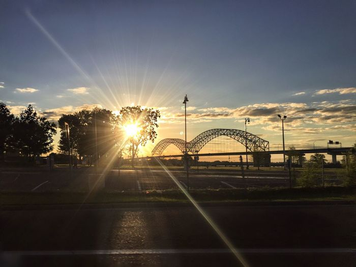 When I was walking in Memphis I was walking with my feet ten feet off of Beale Walking in Memphis But do I really feel the way I feel? ~ MC Memphis Memphis Bridge Sunset #sun #clouds #skylovers #sky #nature #beautifulinnature #naturalbeauty #photography #landscape