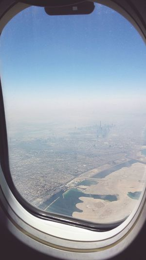 From An Airplane Window A View From Dubai Dubai Burj Khalifa Veiw From Mywindow Window View