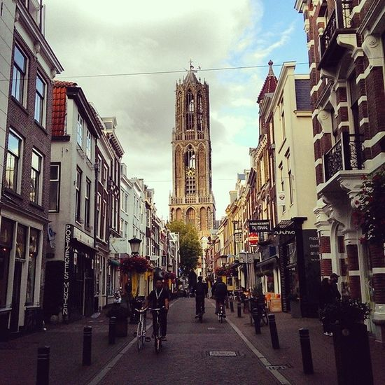 Utrecht Architecture Amazing Histoty historical instaart art beautiful colors cityview street streetview construction perspective people instagramhub sky blue cloud picoftheday
