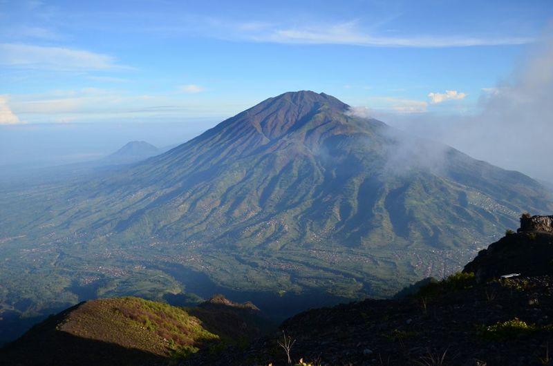 Mount Merbabu as seen from Mount Merapi Volcano Mount Merbabu Merbabu Merapi Mount Merapi Jogjakarta Yogyakarta Jogja INDONESIA Trekking Backpacking