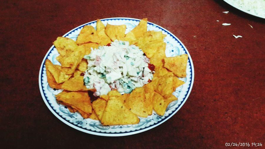 Foodphotography Treatyourself Treat Tonight Yummy♡ Nachos Salad Time Healthy Eating healthy Spain♥