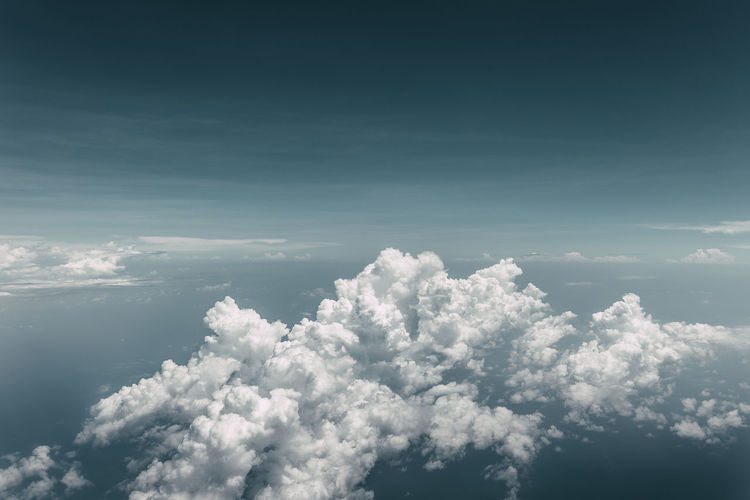 Cloudscape Airplane Beauty In Nature Blue Cloud - Sky Cloudscape Majestic Malaysia Nature Scenics Sky The Natural World Up In The Air Up In The Sky View From Above