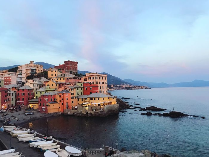 Boccadasse Sunset Colors City Italy Genova Boccadasse My Best Travel Photo