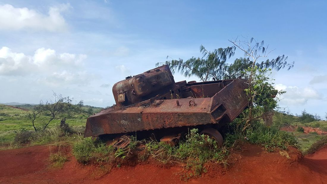 Old Things Rust Brokedown Military Tanks WWII On A Hike Outdoors