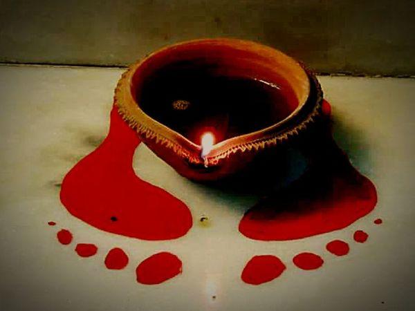Diwali Deeya Feetofgodesslakshmi Auspicious India