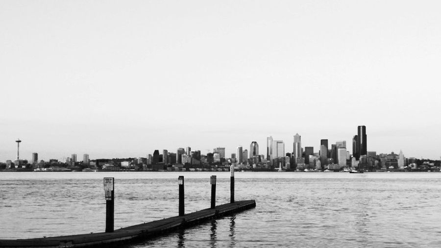 City skyline at waterfront