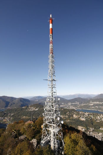 Blue Sky Cityscape Clear Sky Construction Italy Landscape Lugano Switzerland TV Tower