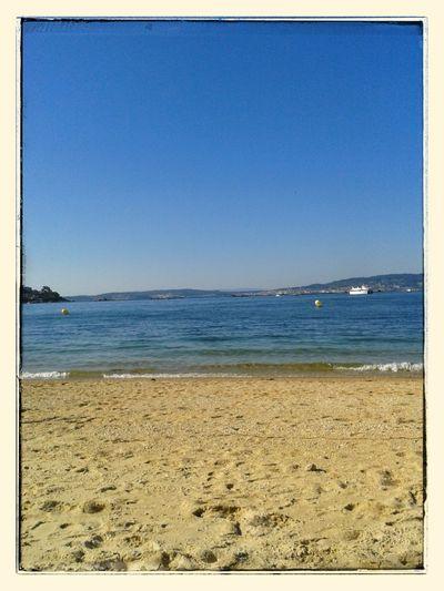 On the beach. Galiza Bueu Seascape Beach