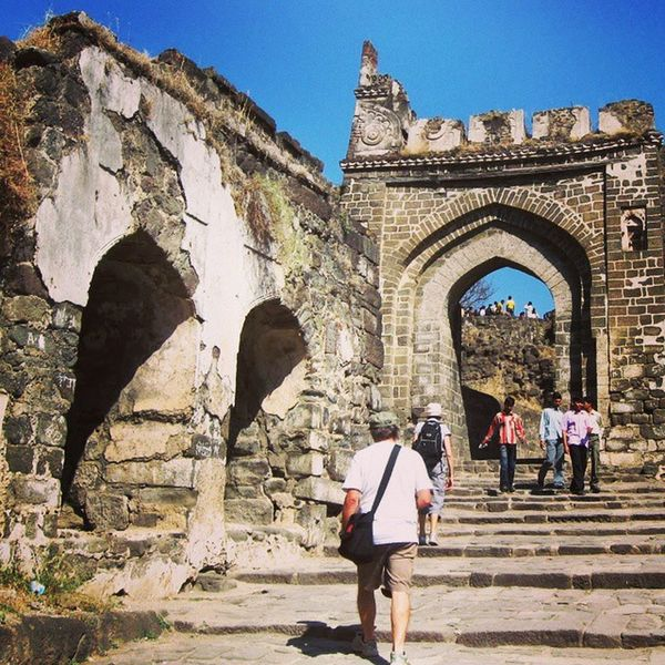Daulatabad fort was built in 1203 AD. The fort n the village served as Muhammad bin Tughluq's capital. Indianhistory Incredibleindiaofficial Indianforts Incredibleindia india wanderlust travelbug travel maharashtra forts historicalmomuments