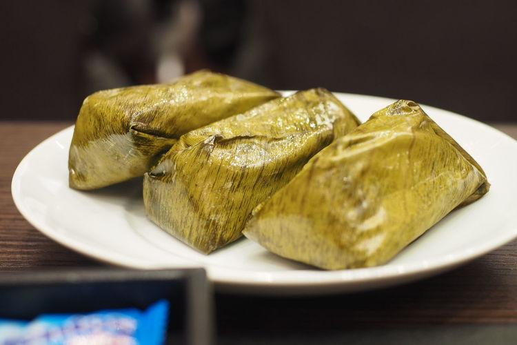 Steamed Sticky Rice With Taro Thai Food Good Taste Asian Food Dumpling  Food Food And Drink Snack Thai Dessert Thai Food