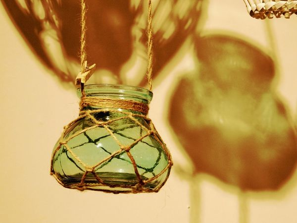 Close-up Day Decoration Hanging House Hold Items Indoors  Jar No People Shadows