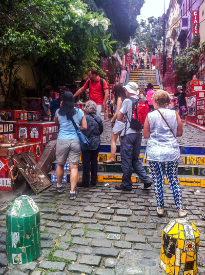 November 2014. Brazil! Saudades... Casual Clothing Choice City Life Crowd Culture Cultures Front View IPhone 4 IPhoneography Jeans Large Group Of People Leisure Activity Lifestyles Men Real People Religion Sitting Standing Street Togetherness Women