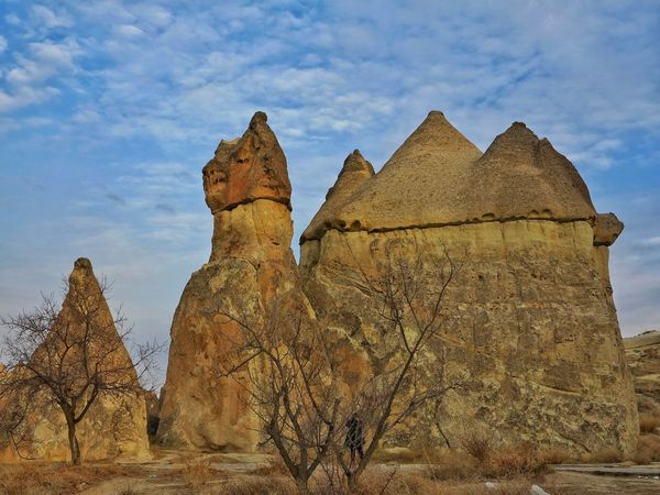 Travel Destinations Beauty In Nature Landscape Destination Rock Hoodoo Göreme Travel Destination Volcanic Landscape Landmark Mushroom Shape Rock Unessco World Heritage Site Cappadocia/Turkey Open Air Museum Mushroom Shaped Lunar Landscape Volcanic Rocks Outdoors Rock - Object Seanics No People Fairy Chimneys Capadocia Scenics Turkey💕 Day