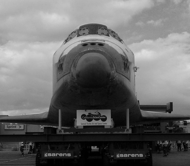Cloud - Sky Space Shuttle NASA Black And White Friday Endeavour