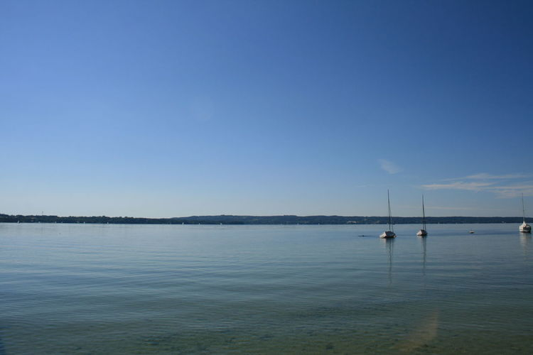 Starnberger See Bayern Germany Copy Space Starnberger Starnberger See Textfreiraum Beauty In Nature Blue Clear Sky Copyspace Day Horizon Over Water Lake Nature No People Nobody Outdoors Scenics Sea See Sky Starnberger See Tranquil Scene Tranquility Water Waterfront
