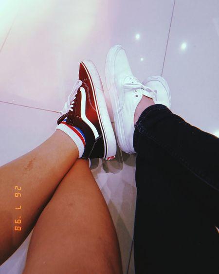 🐼🐷 Vans Off The Wall Vans Low Section Young Women Human Leg Shoe Limb Close-up