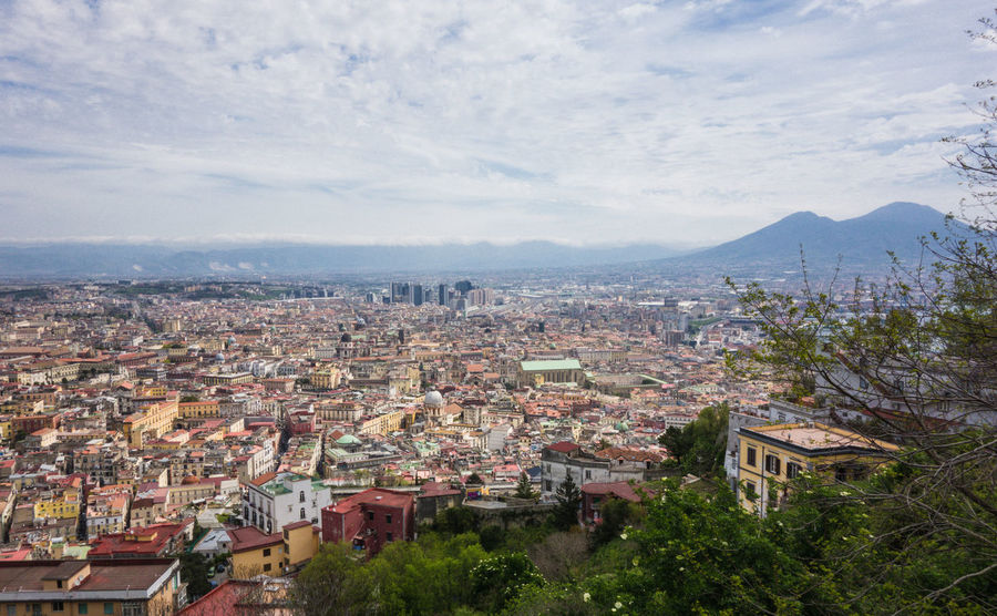 View of Naples city with Vesuvio Architecture Bay Of Naples Building Exterior City Cityscape Crowded Day Horizon Mountain Outdoors Residential  Sky Town Vesuvio Vesuvius  Volcano