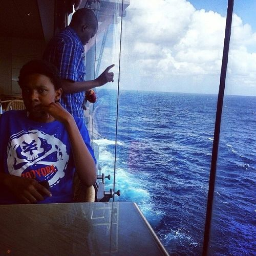 The isolation of the ocean. Beautiful. TBT  Kwazulunatal Msccruises Mscopera