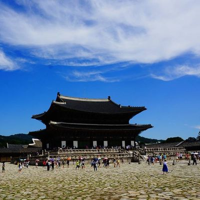 KO Seoul Trip Summer Sunny Bluesky Worldheritage Beautifulsky Iwannagoback Yeah