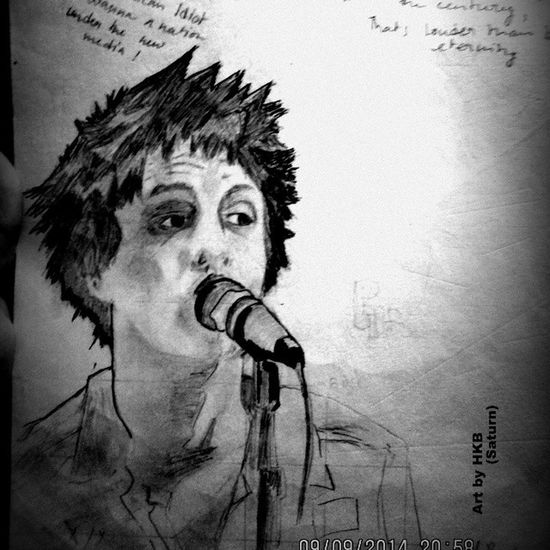 Tried sketching Billiejoearmstrong of Greenday ... Music Singer  21guns Wakemeupwhenseptemberends Americanidiot 21stCenturyBreakdown Artpages Art Sketch ArtFeatures Instagram Insta_pic Insta_like Picoftheday Punk Rock