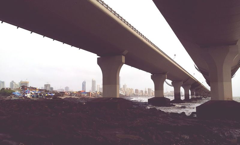 Bridge - Man Made Structure Architecture Connection Built Structure Architectural Column City Cityscape Urban Skyline No People Modern Outdoors Day Sky Bandra Worli Sea Link EyeEmPaid Baiju Goradia Baijugoradia Sommergefühle Been There.
