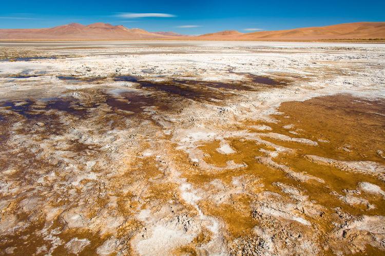 Desert against sky