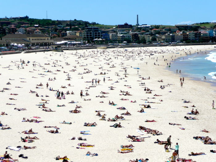 Holidays Australian Way Of Life Beach Crowd Day Full Beach! Large Group Of People Leisure Activity Mixed Age Range Outdoors People Real People Sand Sea Summer Sunny Day Sunshine Pure Tourist Destination