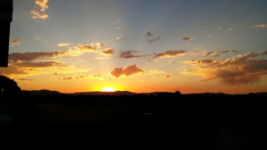 Hanging Out Taking Photos Check This Out Enjoying Life Relaxing Beautiful Peaceful View Sunset Beautiful Sunset Orange Mountain Yellow Cloudy Day Ahhh Peaceful Evening Relaxing Moments
