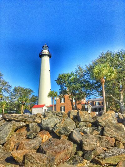 Exploring St. Simons Island today. Architecture Outdoors Nature Lighthouse