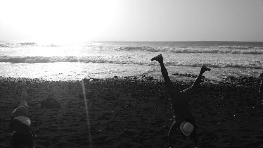 Sunlight Beach Photography Walked  That's Me! Black And White Black & White Monochrome Moments Lanzarote Light And Shadow