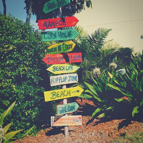 Beach Signs Direction