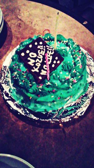 2009 Blue Cake Happy :)