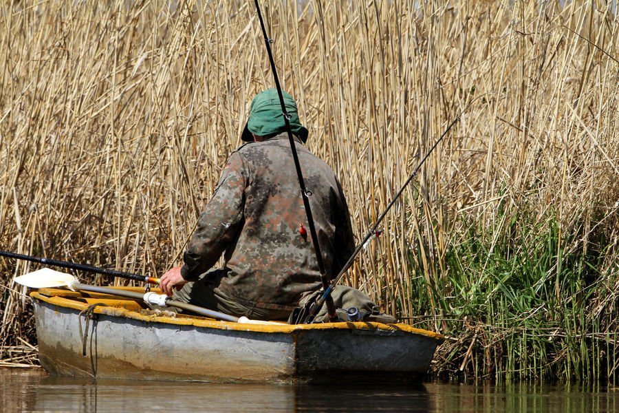 Angler Biebrza Biebrza National Park Fishing Nature Nautical Vessel One Man Only One Person Outdoors River Water