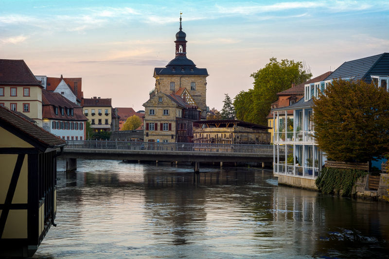 Town Hall By River Against Sky At Bamberg