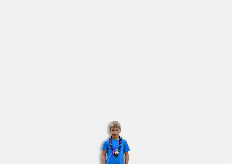 Boy Kid Front View Portrait White Background One Person Scout Scouts Scouts Time Uniqueness The Portraitist - 2017 EyeEm Awards BYOPaper!