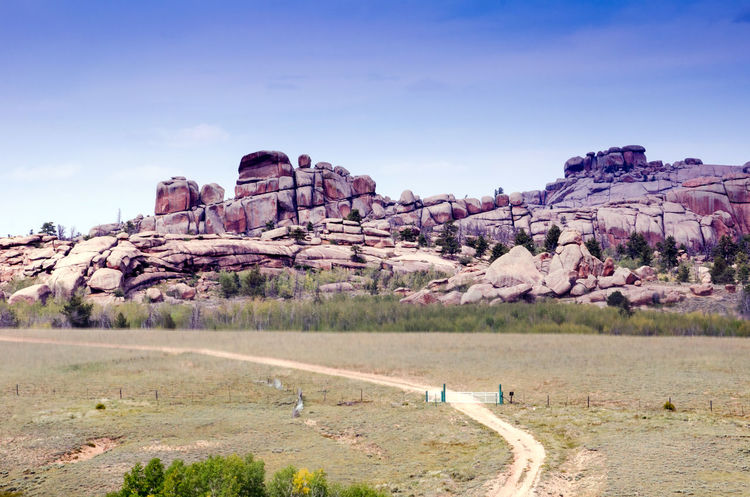 rocky rugged landscapes in southern wyoming USA Wyoming America Beauty In Nature Day Landscape Nature No People Outdoors Rocks And Boulders Scenics Sky Tourist Area