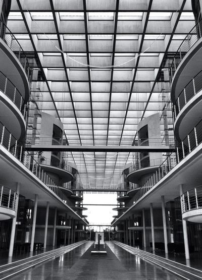 Science Fiction Bwphotography Symmetecture AMPt - Vanishing Point