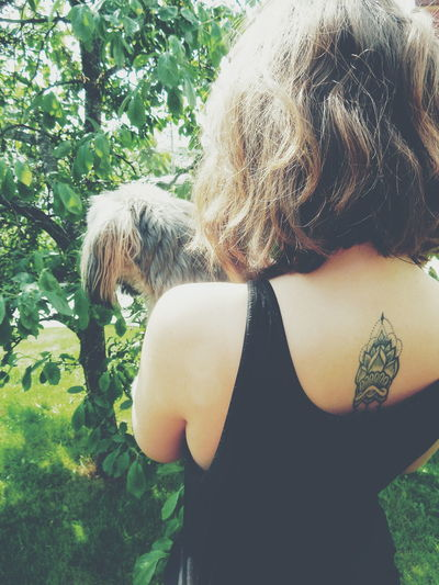 cute tattoo....Tattoo Life Enjoy The New Normal My Year My View Dog Dogs Dog Love Back People Live For The Story Place Of Heart Live For The Story The Portraitist - 2017 EyeEm Awards