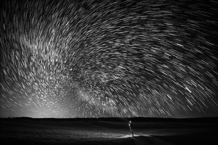 Vortex Nightphotography Vortex Astronomy Beauty In Nature Blurred Motion Constellation Exploration Galaxy Harz Infinity Long Exposure Milky Way Monochrome Motion Nature Night No People Outdoors Scenics - Nature Sky Space Star Star - Space Star Field Star Trail