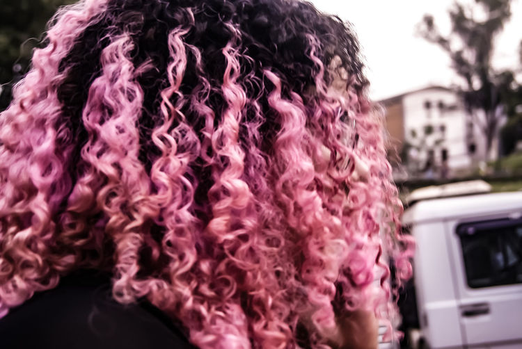 Focus On Foreground Close-up Curly Hair! Curly Hair Curlyhairdontcare Curly Hair ❤ Curly Hair Don't Care Curl Curly Guy Curled Up Curlyhairkillas Curly Hairstyle Pink Color Pinkhair Pinkhairdontcare Pinkhead